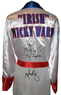 "Mark Wahlberg & ""Irish"" Micky Ward ""The Fighter"" Signed Boxing Robe"